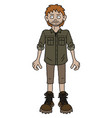 the funny redhead adventure boy vector image vector image