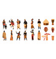 tribal africa icon set vector image vector image