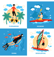 Water Sport Concept Icons Set vector image