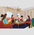 women in a book club meeting vector image