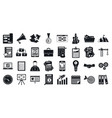 workflow strategy icons set simple style vector image