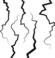 Set of five fractures or cracks for your design vector image
