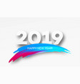 2019 new year on the background of a colorful vector image vector image