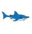 a cheerful animation shark vector image vector image