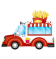 A vehicle selling fries vector image