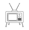 abstract old tv vector image
