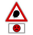attention sign with optional label and smiley vector image vector image
