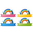 banner template with colorful rainbow vector image vector image
