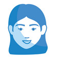 beautiful and young woman head vector image vector image