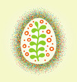 big easter egg glittering frame and draw ornament vector image vector image