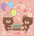 Birthday bear vector image vector image