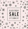 black friday sale banner design template vector image