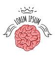 brain logo design template print concept vector image vector image