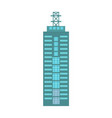 business building isolated icon vector image vector image
