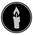 candle black coin vector image vector image