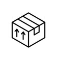 cardboard box delivery icon thick line vector image