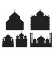 cathedral black silhouette church temple vector image