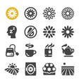 chamomile icon set vector image