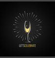 champagne glass design background vector image vector image