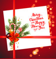 christmas holiday decor card vector image vector image