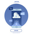 cloud computing concept - connect devices to cloud vector image vector image