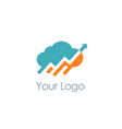 cloud upload arrow logo vector image vector image