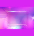 colorful abstract background with empty frame vector image vector image