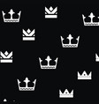 crown king logo design vector image