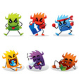 cute beast icon vector image vector image