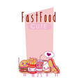 cute fast food collection vector image vector image