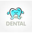 dental tooth smile symbol emblem sign vector image vector image