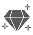 diamond glyph icon jewellery and accessory vector image