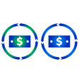 dollar bill turn icon vector image