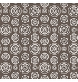 Dots circles white seamless pattern on dark brown vector image vector image