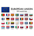 european union and membership flag association vector image