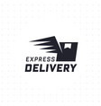 express delivery in black color vector image