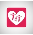 family people love heart vector image
