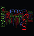 fixed rate home equity loans text background word vector image vector image
