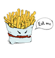 fry potato vector image