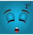 Funny emoticon cartoon design vector image