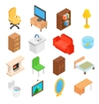 Furniture for living room isometric vector image vector image