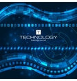 Futuristic digital background with space for text vector image vector image