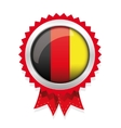 Germany badge with red ribbon vector image vector image