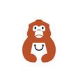 golden snub nosed monkey shop shopping bag logo vector image