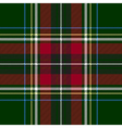 Green red check plaid texture seamless pattern vector image vector image