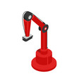 hydraulic robot using in factories colorful card vector image vector image
