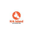 krk island accounting logo design vector image vector image