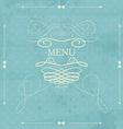 Label for restaurant menu design Element for vector image