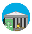 legal punishment icon vector image vector image