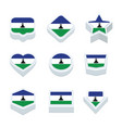 lesotho flags icons and button set nine styles vector image vector image